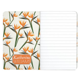 Paradise Bird Flower Pattern | Add Your Name Journals