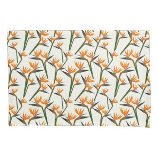 Paradise Bird Flower Pattern Pillowcase