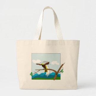 Paradise Bird Large Tote Bag