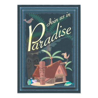 Paradise Blue Hawaii Margarita Party Invitation