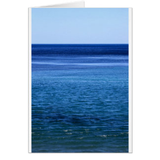 Paradise blue ocean seascape greeting card