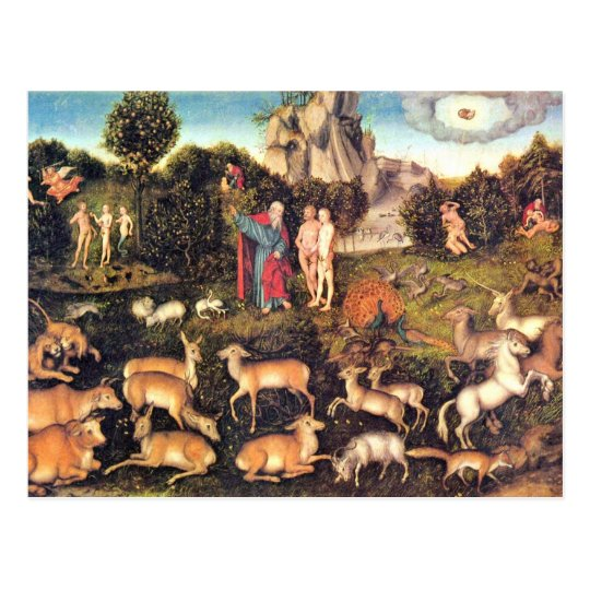 Paradise By Cranach D. Ä. Lucas (Best Quality) Postcard