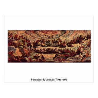 Paradise By Jacopo Tintoretto Postcard