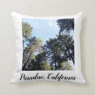 Paradise California Pine Trees Photo Throw Pillow