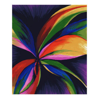 Paradise Colorful Abstract Orig Art Photo Print