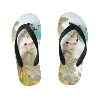 Paradise draws kid's flip flops