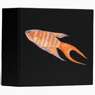Paradise Fish, Watercolor. 3 Ring Binder