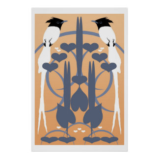 Paradise Flycatchers Poster