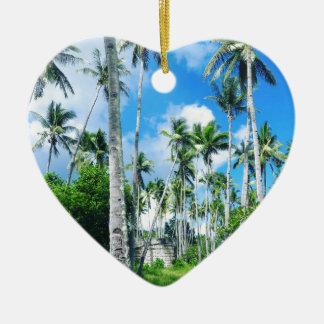 Paradise in the Pacific Ceramic Ornament