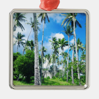 Paradise in the Pacific Metal Ornament