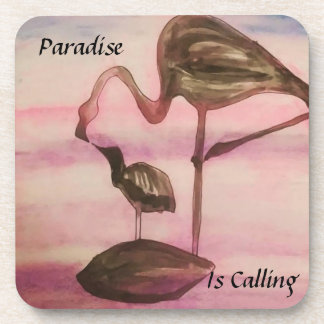 Paradise Is Calling coaster set (personalize it!)