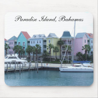 Paradise Island Bahamas Colorful Buildings Mouse Pad