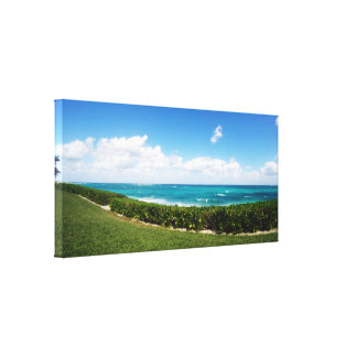 Paradise Island Beach | Panoramic View Canvas Print