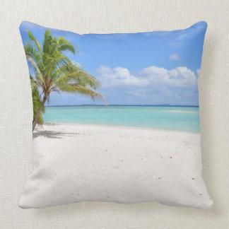 Paradise Island Beach Throw Pillow