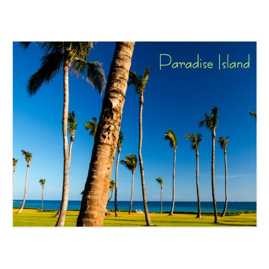 Paradise Island Landscape Postcard