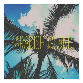Paradise Island Trees Perfect Poster