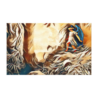 Paradise Lost Abstract Airbrush Art On Canvas
