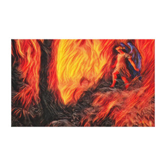 Paradise Lost Alternate Acrylic Airbrush Paint Canvas Print