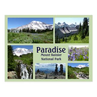 Paradise (Mount Rainier) Collage Postcard