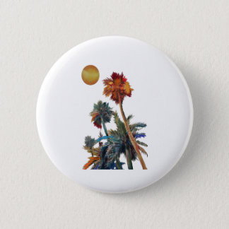 Paradise Palms 2 Inch Round Button