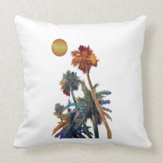 Paradise Palms Throw Pillow