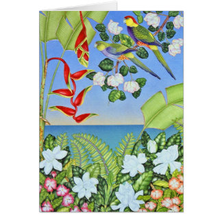 Paradise Parrot Card