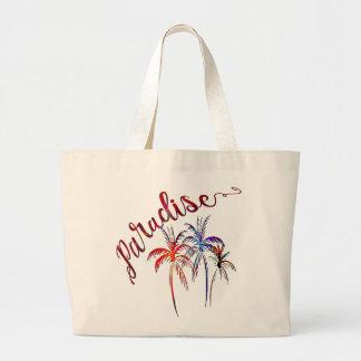 paradise, summer beach palm nature tote design