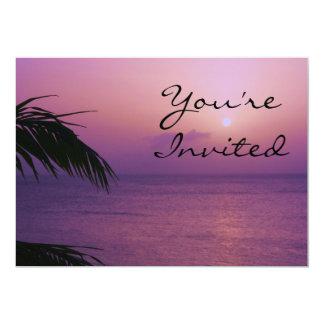 Paradise Sunset Invitation