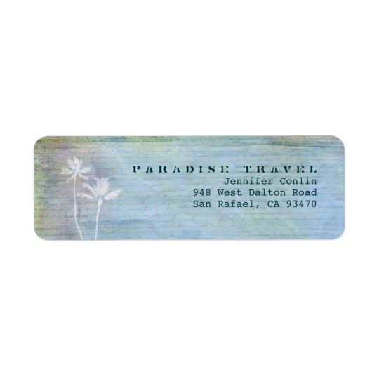 Paradise Travel Return Address Labels