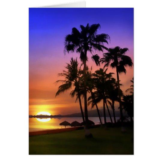 Paradise Tropical Birthday Card