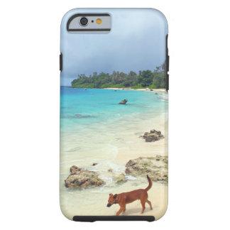 Paradise tropical island white sand beach tough iPhone 6 case