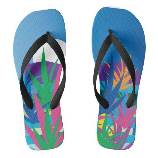 Paradise under my feet flip flops
