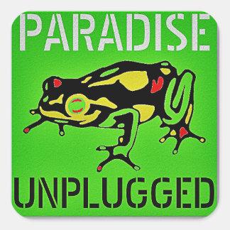 PARADISE UNPLUGGED - BIG ISLAND, HAWAII SQUARE STICKER