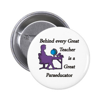 Paraeducator 2 Inch Round Button