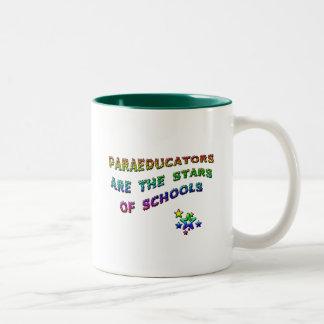 PARAEDUCATORS ARE THE STARS OF SCHOOLS Two-Tone COFFEE MUG
