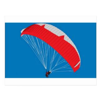 Paraglider design postcard