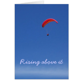Paraglider greeting with quote card