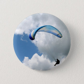 Paraglider in Flight 2 Inch Round Button