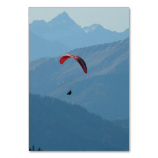 Paraglider Paragliding Table Card