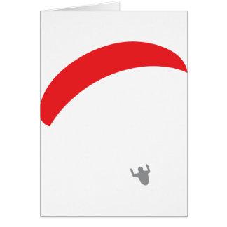 paraglider red - paragliding card