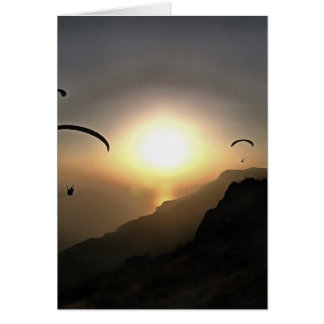 Paragliders Flying Without Wings Card