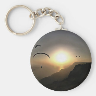Paragliders Flying Without Wings Keychain