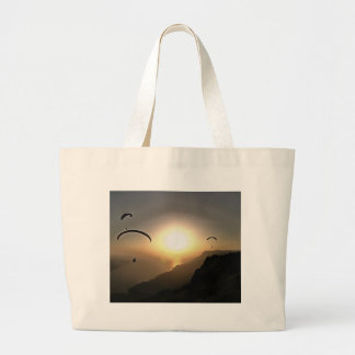 Paragliders Flying Without Wings Large Tote Bag