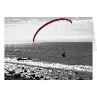 Paragliding By The Ocean - Customizable Card
