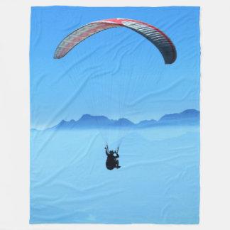 Paragliding gerlitz glacier fleece blanket