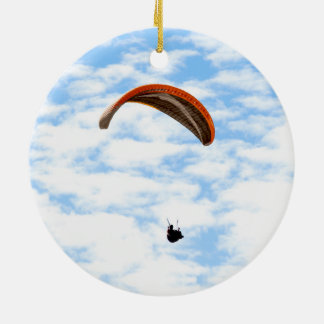 Paragliding in the Clouds Ceramic Ornament