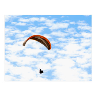 Paragliding in the Clouds - Customizable Postcard