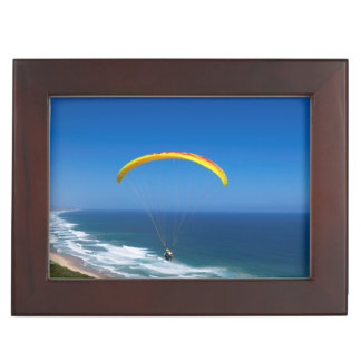 Paragliding Near Wilderness, Garden Route Keepsake Box