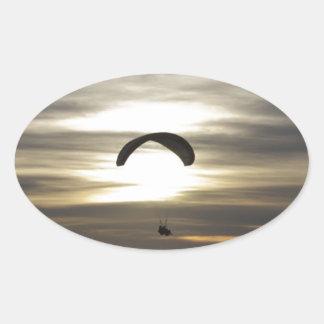 Paragliding Oval Sticker