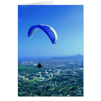 Paragliding over Honolulu Card